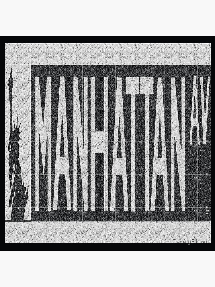 Manhattan Avenue NYC Street Sign  by CecelyBloom
