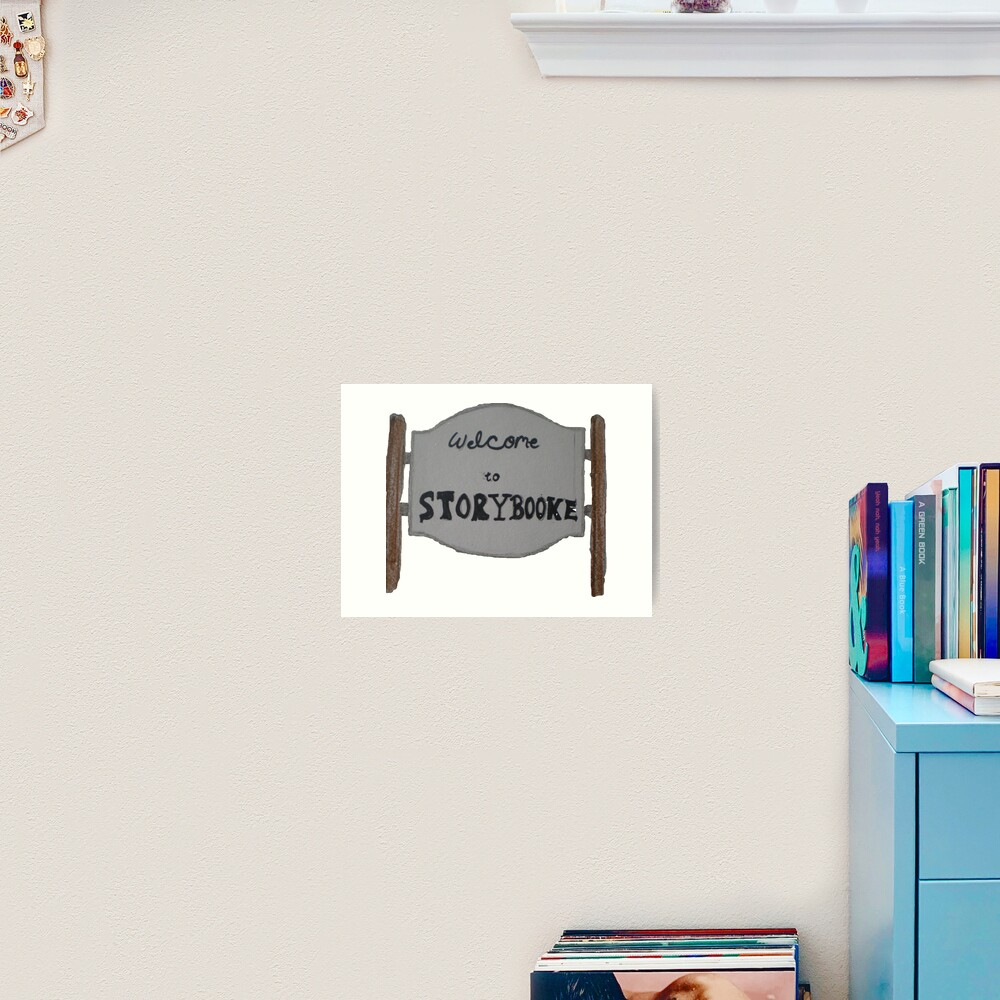 """Welcome to Storybrooke sign once upon a time "" Art Print ..."