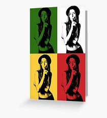 Girl Pop Art Greeting Card