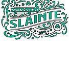 Slainte Irish Gaelic Vintage Weathered Whiskey Label Design by funnytshirtemp