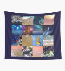 Sealife And SeaShore Collage by Hurmerinta Wall Tapestry