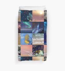 Sealife And SeaShore Collage by Hurmerinta Duvet Cover