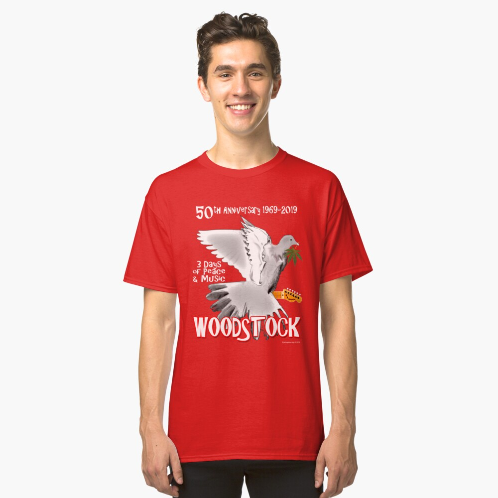 Woodstock 50th Anniversary Classic T-Shirt Front