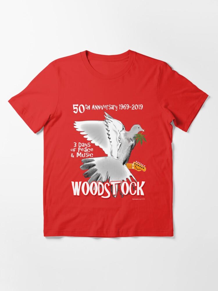Alternate view of Woodstock 50th Anniversary Essential T-Shirt