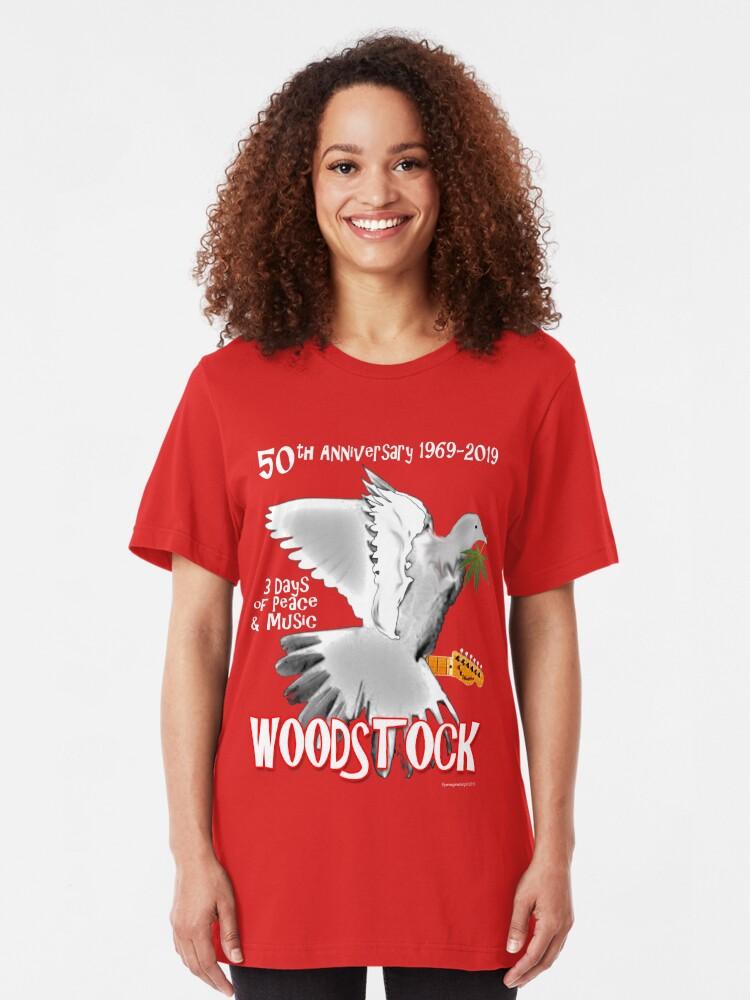 Alternate view of Woodstock 50th Anniversary Slim Fit T-Shirt