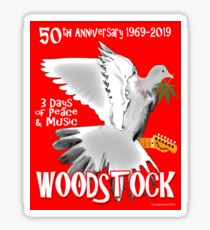 Woodstock 50th Anniversary Sticker