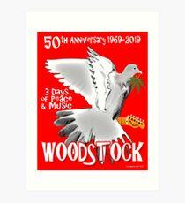 Woodstock 50th Anniversary Art Print