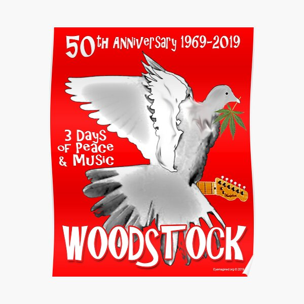 Woodstock 50th Anniversary Poster
