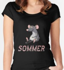 Sommer Sticker Women's Fitted Scoop T-Shirt