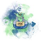 Ink Monster Blue Nebula by whimsystation