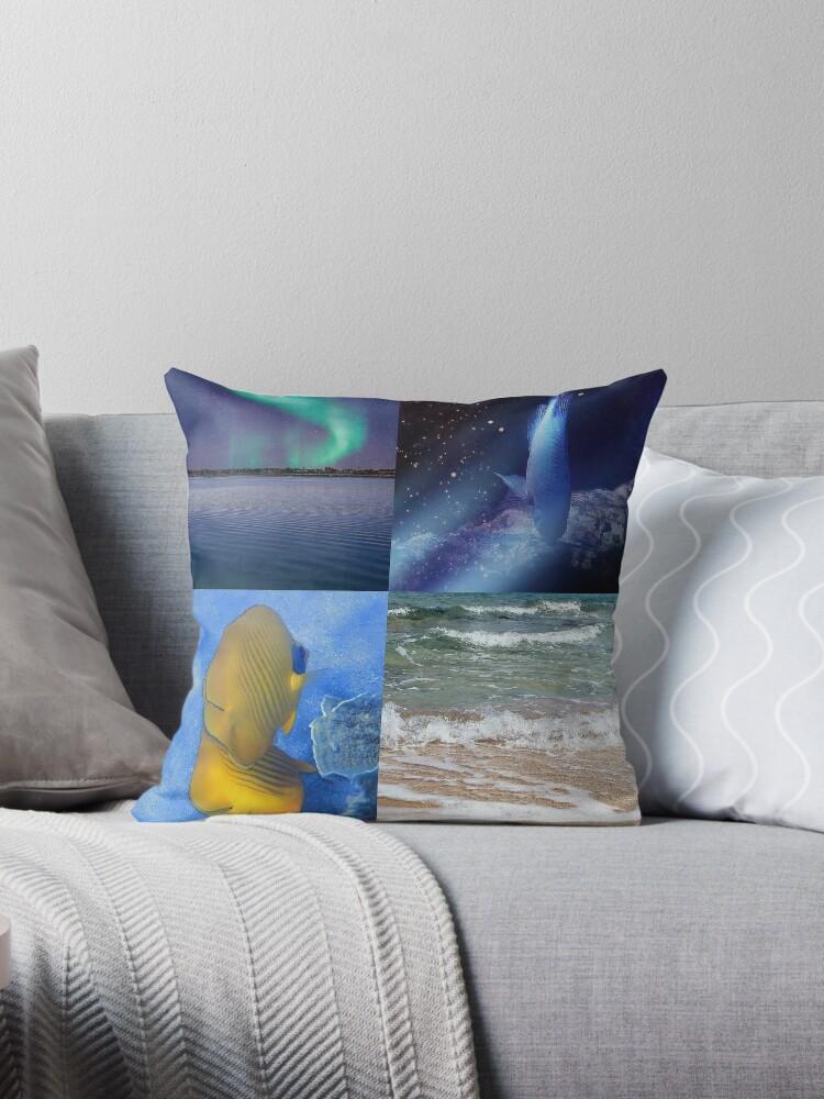 Sealife And Seashore Collage Vertical 2 by hurmerinta