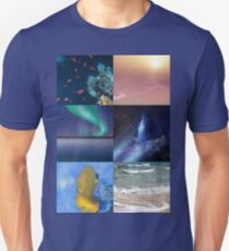 Sealife And Seashore Collage Vertical 2 Unisex T-Shirt