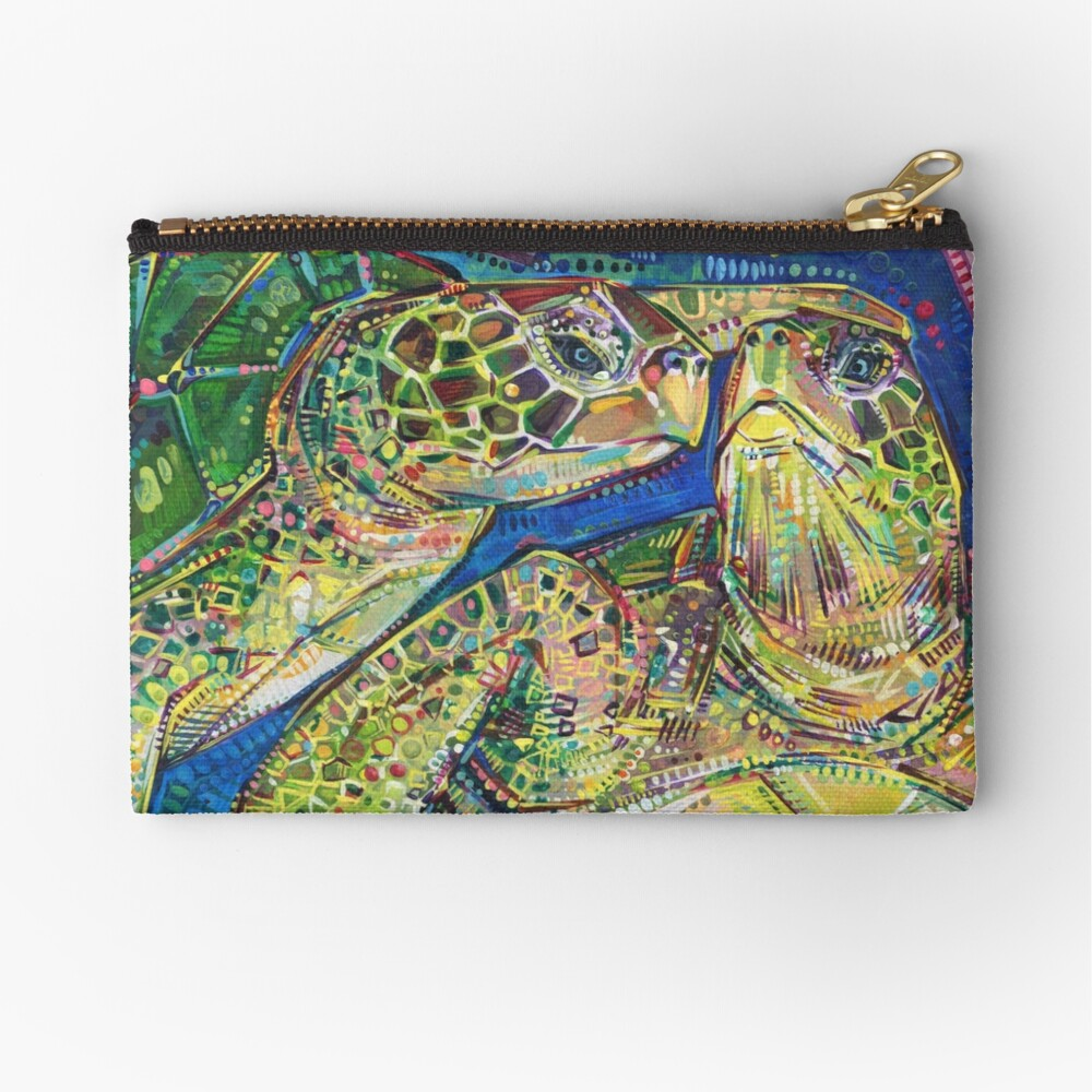 Turtles two painting - 2016 Zipper Pouch