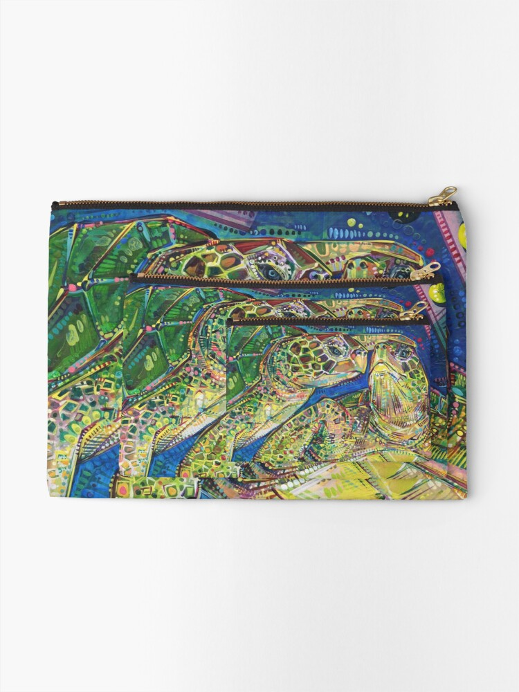 Alternate view of Turtles two painting - 2016 Zipper Pouch