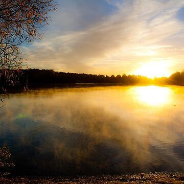 Sunset summer lake by DesignWorlds