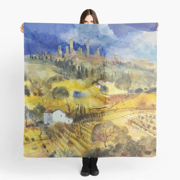 Tuscan landscape - San Gimignano Scarf