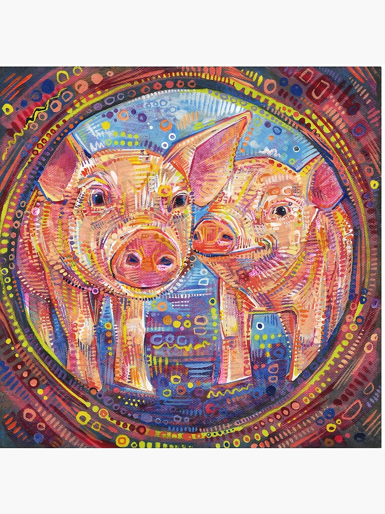 Piggles Painting - 2014 by gwennpaints