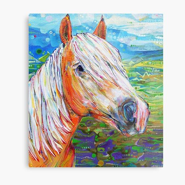 Haflinger Horse Painting - 2012 Metal Print