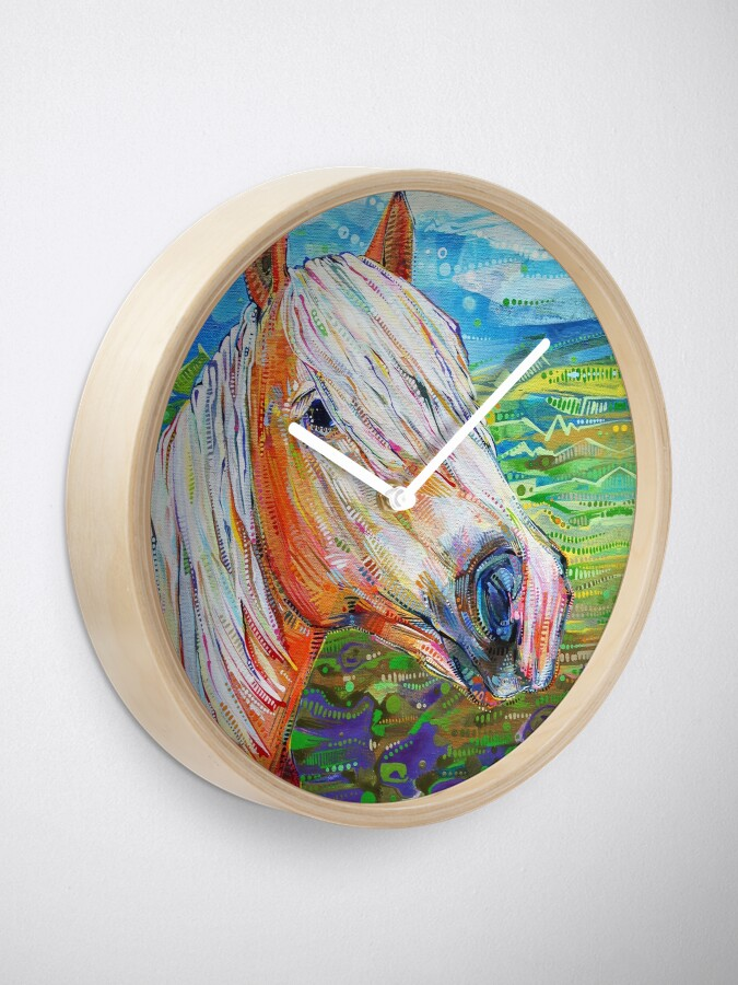 Alternate view of Haflinger horse (looking right) painting - 2012 Clock