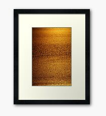 Cambridge Gulf Liquid Gold Framed Print