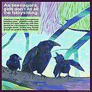 Babysitters' club (American crow) by Gwenn Seemel