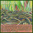 Love-in (Red-sided garter snake) by Gwenn Seemel