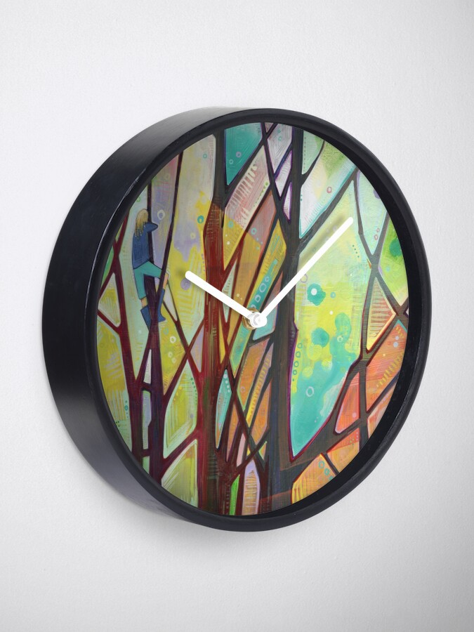 Alternate view of Girl Climbing a Tree Painting - 2012 Clock