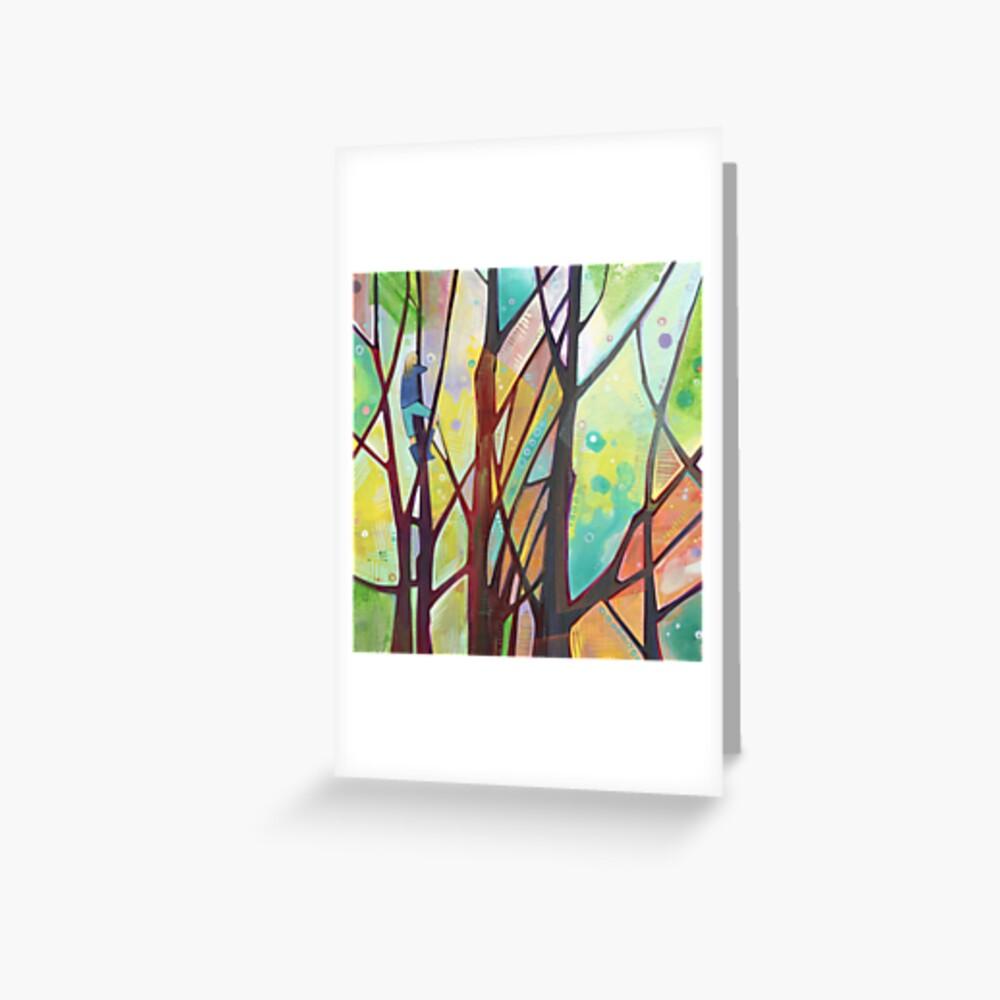 Girl Climbing a Tree Painting - 2012 Greeting Card