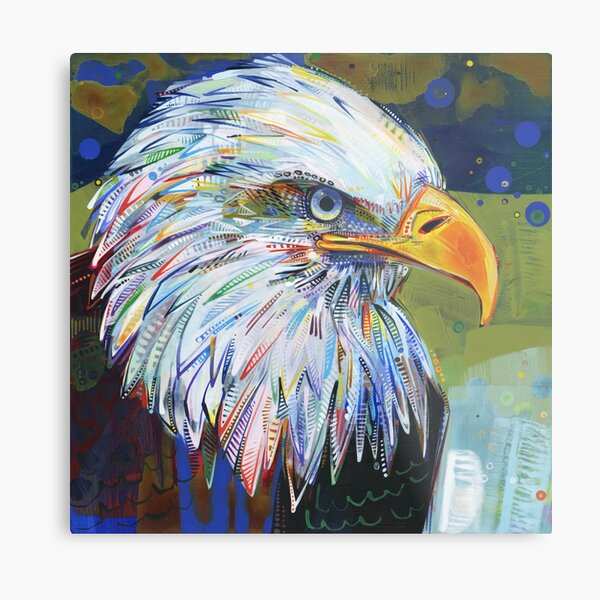 Bald Eagle Painting - 2012 Metal Print