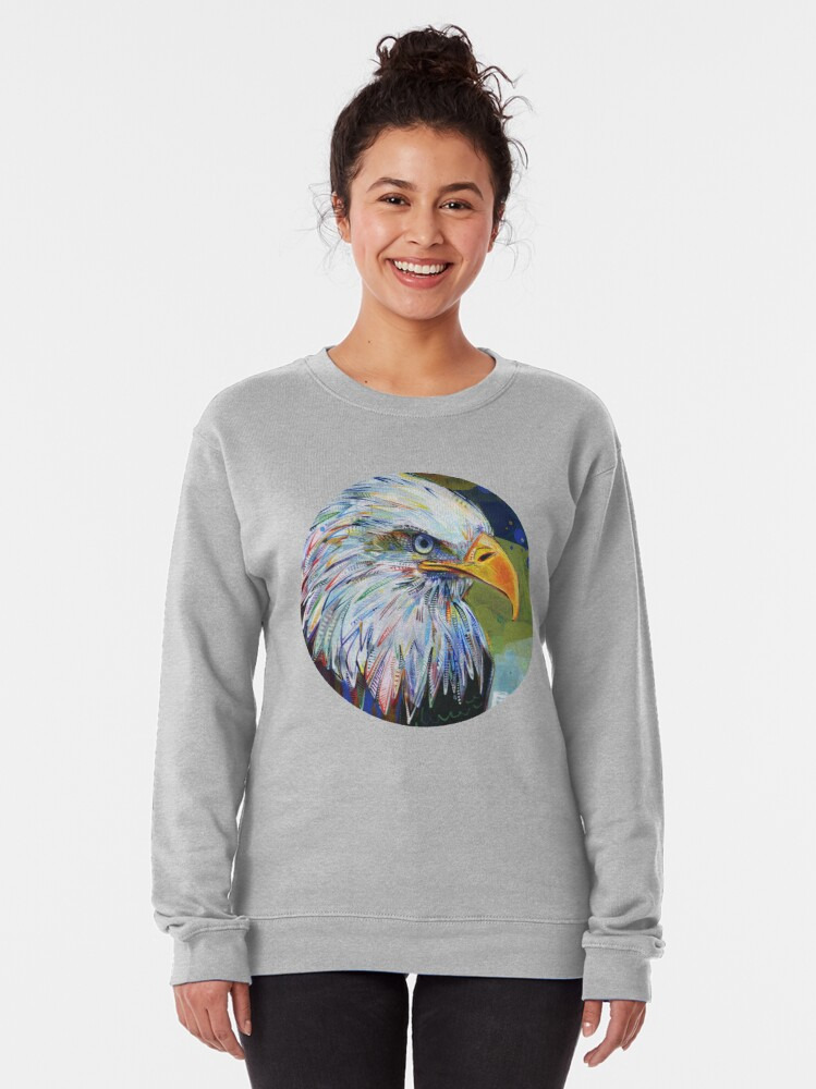 Alternate view of Bald Eagle Painting - 2012 Pullover Sweatshirt