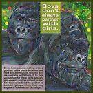 Don't ask, don't tell (Moutain gorilla) by Gwenn Seemel