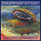 Save the salmon, all three genders (Coho salmon) by Gwenn Seemel