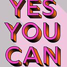 yes you can - modern typography by ShowMeMars