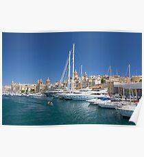 Malta: Vittoriosa Yacht Marina Poster