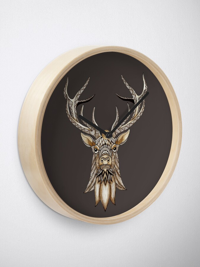 Alternate view of Brown Stag Clock