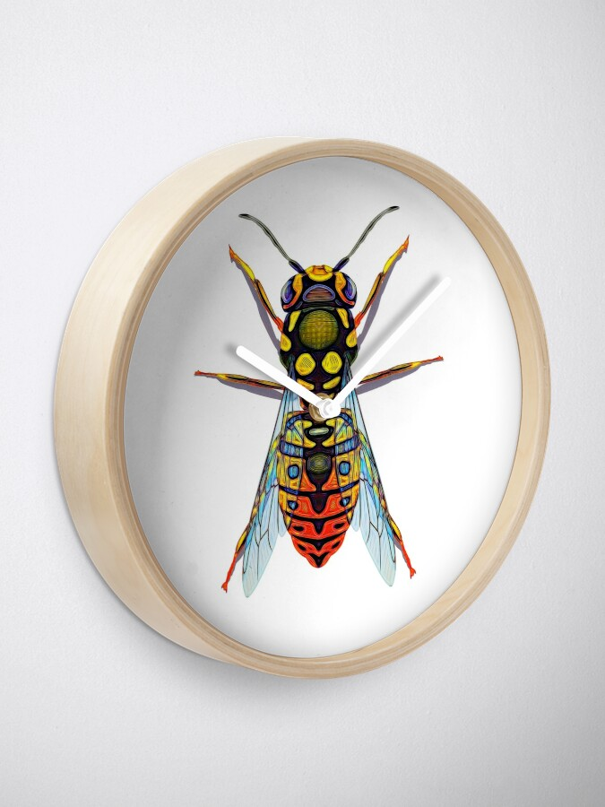 Alternate view of Wasp Geometric Design Graphic Clock