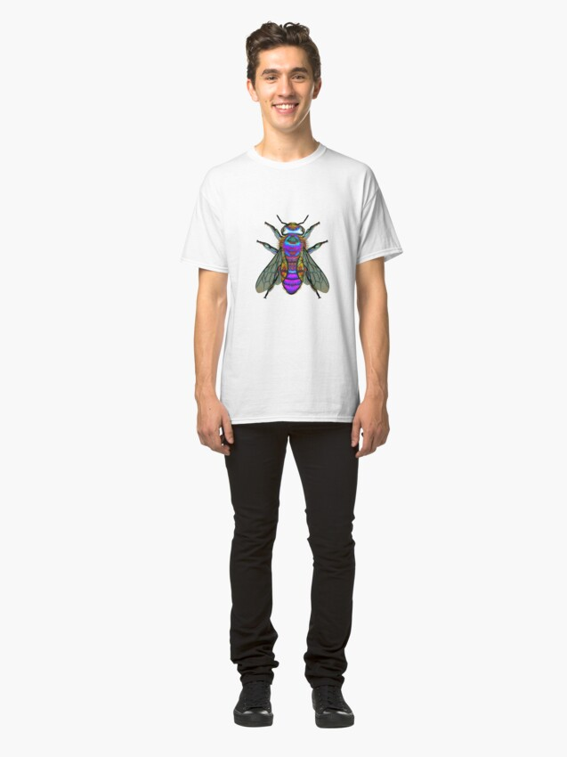 Alternate view of Bee A Purple Bumble Bee Classic T-Shirt