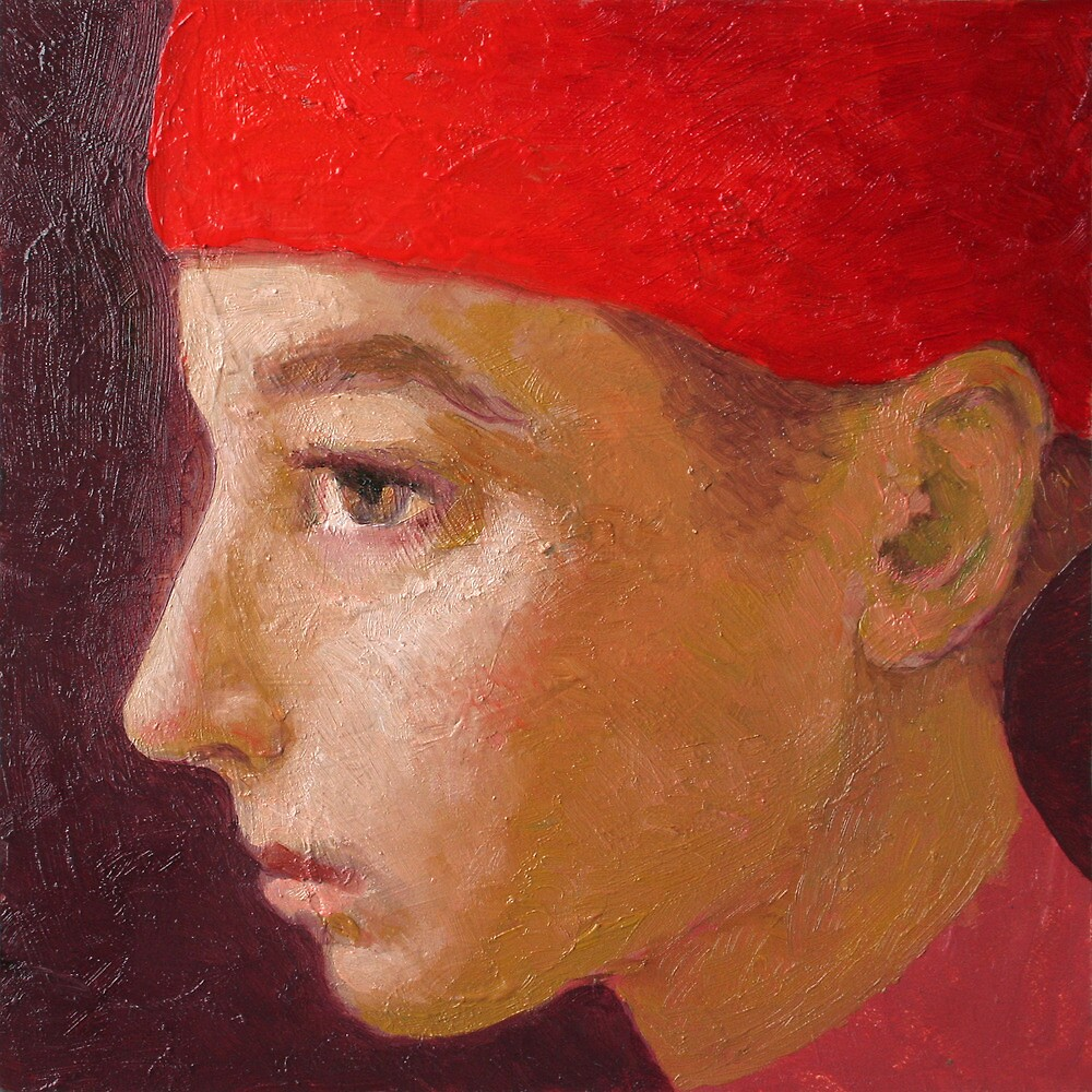 Young man with a red hat 4 by ipalbus-art