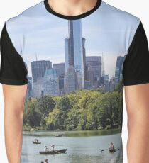 #FamousPlace #InternationalLandmark #CentralPark #NewYorkCity #USA #americanculture #sky #skyscraper #tree #lake #water Graphic T-Shirt