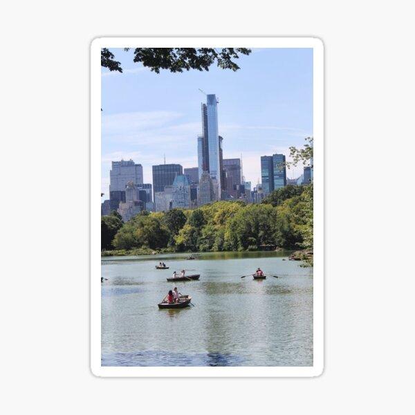 #FamousPlace #InternationalLandmark #CentralPark #NewYorkCity USA americanculture sky skyscraper tree lake water Sticker