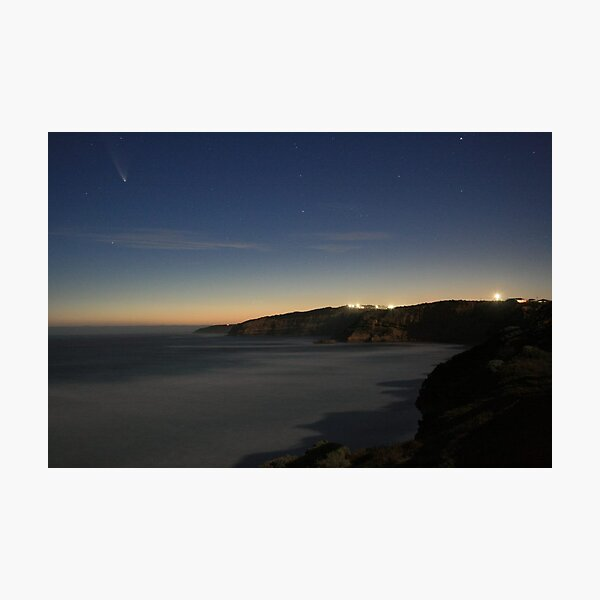 Comet McNaught over the Surfcoast Photographic Print