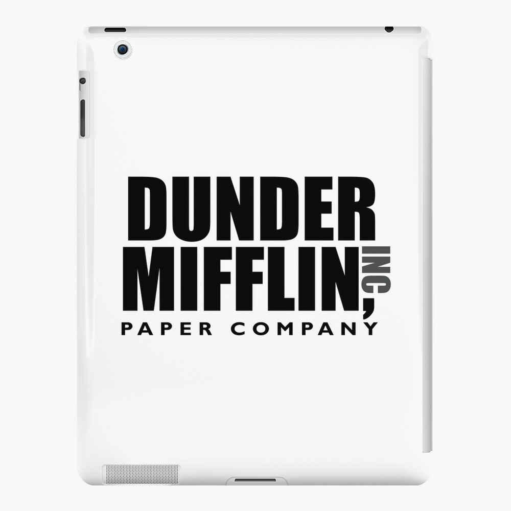 The Dunder Office Mifflin Inc. Design, T-Shirt, tshirt, tee, jersey, poster, Original Funny Gift Idea, Dwight Best Quote From iPad Case & Skin