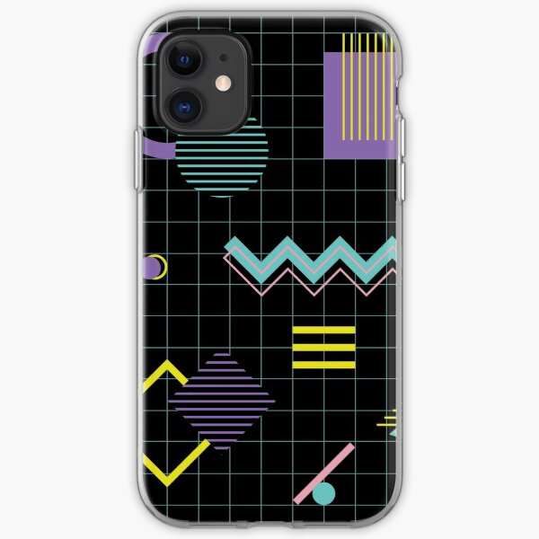 Memphis pattern 4 - Retro 80s / 90s iPhone Soft Case