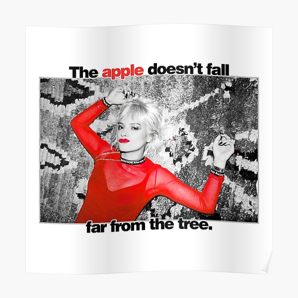 Lily Allen - The Apple Doesn't Fall From The Tree. Poster