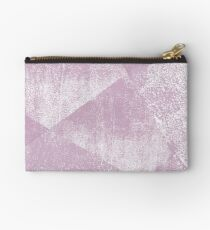 Mauve and White Geometric Ink Texture  Studio Pouch