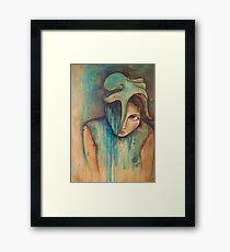 """love sticks, sweat drips"" (self-portrait) Framed Print"