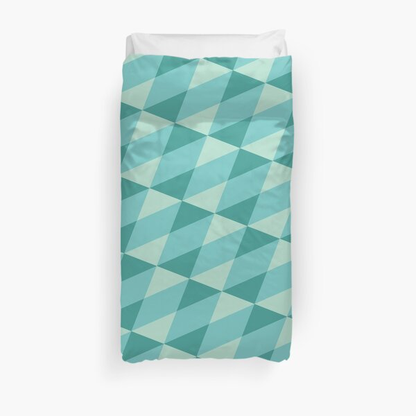 minty angles Duvet Cover