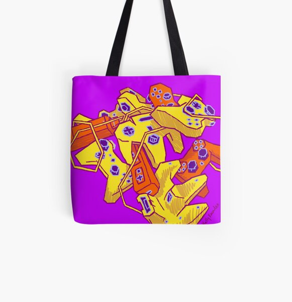 Video Game Still Life All Over Print Tote Bag