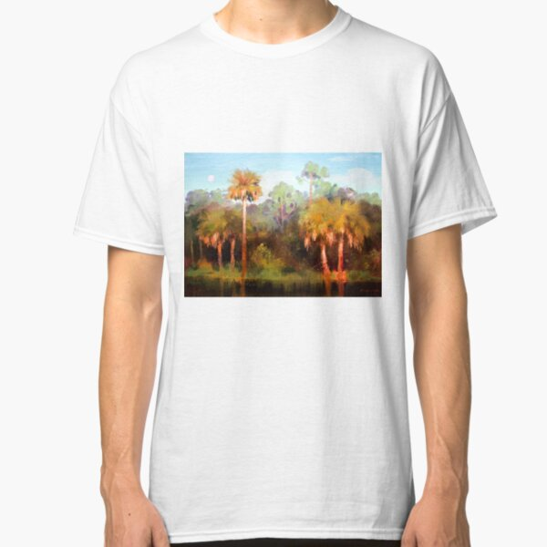 Moon rise over the Palms Classic T-Shirt