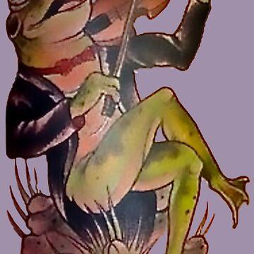 Tuxedo Frog Violin Virtuoso by VictorIos